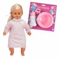 Skrållan, Blond med rosa klänning och docktillbehör