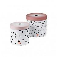 Done by Deer förvaringsaskar Happy Dots 2-pack, powder