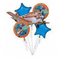 Ballongbukett Flygplan/Planes - 5-pack