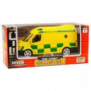 Ambulans i metall med pull back funktion 11cm