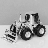 Silverpläterad sparbössa Traktor