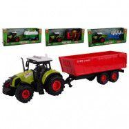 Traktor med LED ljus, ljud och släp