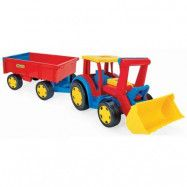 Wader Gigant traktor lastare med släpvagn