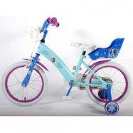 """Volare Disney Frozen, Barncykel med stödhjul 16""""ljusblå"""
