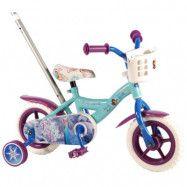"""Volare Disney Frozen, Cykel med stång och stödhjul 10"""""""