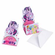 Amscan My Little Pony, Inbjudningskort och kuvert 8 st