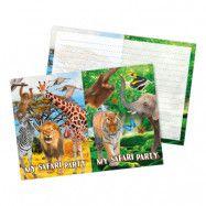 Inbjudningskort Safari Party - 8-pack