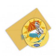 Decorata Disney Frozen Olaf, Inbjudningskort, 6 st