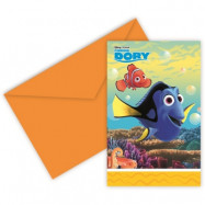 Disney Hitta Doris - Inbjudningskort 6 st
