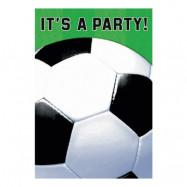 Fotboll Inbjudningskort - 8-pack