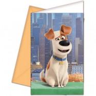 Decorata Husdjurens Hemliga Liv, Inbjudningskort 6 st
