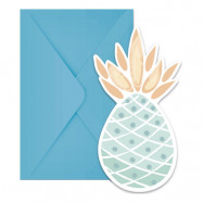 Inbjudningskort Ananas - 6-pack