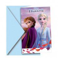 Inbjudningskort Anna & Elsa Frost 2 - 6-pack