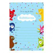 Inbjudningskort Babblarna - 8-pack