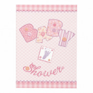 Inbjudningskort Babyshower Rosa - 8-pack