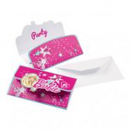 Inbjudningskort Barbie Popstar - 8-pack