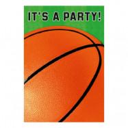 Inbjudningskort Basket - 8-pack