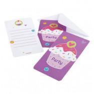 Inbjudningskort Cupcake - 6-pack