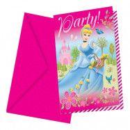 Inbjudningskort Disney Prinsessa - 6-pack