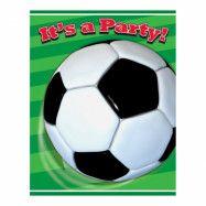 Inbjudningskort Fotboll - 8-pack