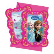 Inbjudningskort Frozen - 6-pack