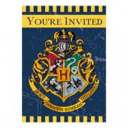 Inbjudningskort Harry Potter - 8-pack