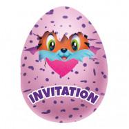 Inbjudningskort Hatchimals - 8-pack