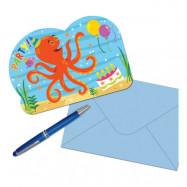 Inbjudningskort Havets Vänner - 8-pack