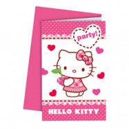 Inbjudningskort Hello Kitty - 6-pack