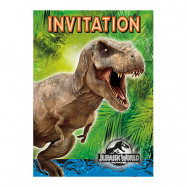 Inbjudningskort Jurassic World - 8-pack