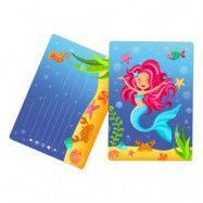 Inbjudningskort Mermaid - 8-pack