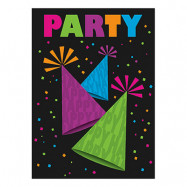 Inbjudningskort Neon Party