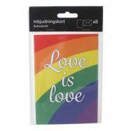 Inbjudningskort Pride med Kuvert - 6-pack