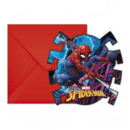 Inbjudningskort Spider-Man - 6-pack