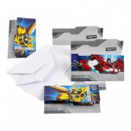Inbjudningskort Transformers 2 - 6-pack