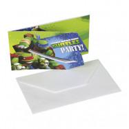 Inbjudningskort Turtles - 6-pack