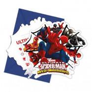 Spiderman Inbjudningskort - 6-pack