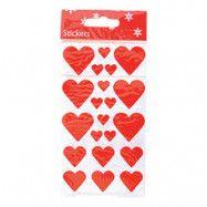 Stickershjärtan Röd