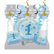 Kalaspaket Little Blue Star 1 år Lyx 8 pers