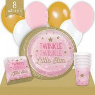 Kalaspaket Little Pink Star Enkel 8 pers