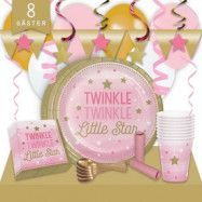 Kalaspaket Little Pink Star Lyx 8 pers