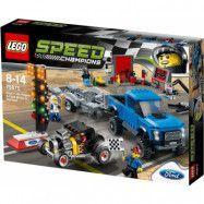 LEGO Speed Champions 75875, Ford F-150 Raptor och Ford Model A hotrod