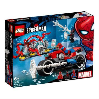 LEGO Super Heroes 76113, Spiderman motorcykelräddning