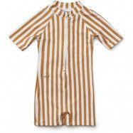 Liewood UV-dräkt/jumpsuit Max Swim stl 68/74, stripe mustard