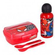 Spiderman Lunchset med matlåda, flaska & bestick