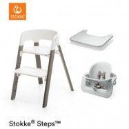 Stokke Steps matstol och babysits + bricka, valfri färg