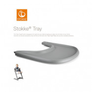 Stokke Tray matstolsbricka, storm grey, Storm grey
