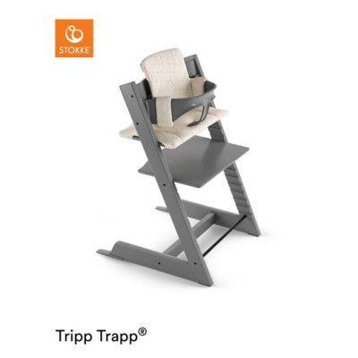 Stokke Tripp Trapp paket, storm grey (matstol+babyset+dyna)