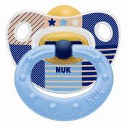 NUK Classic HAPPY KIDS Napp Latex 0-6 mån (Blå)