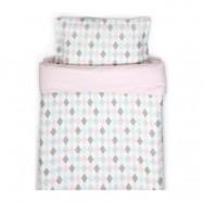 NG Baby påslakanset vagn/vagga, harlequin rosa, Harlequin rosa